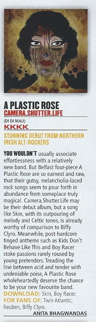 Kerrang Review - A Plastic Rose Album